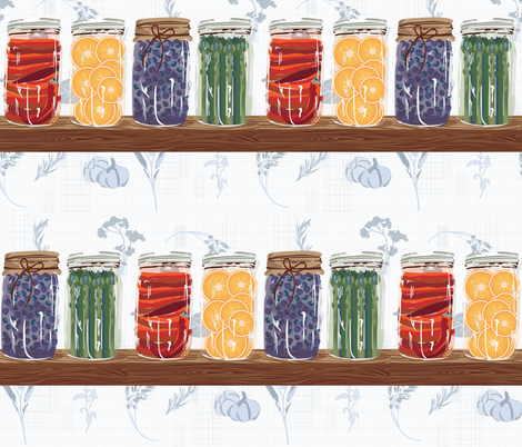 mason jar farmhouse fabric by jcubedart on Spoonflower - custom fabric