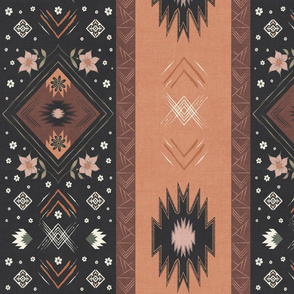 Farmhouse Prairie Kilim Floral Blanket