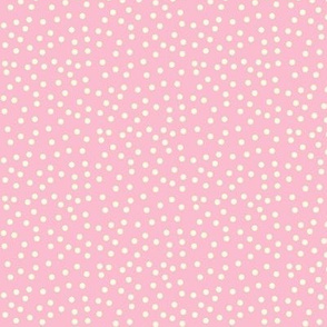 Twinkling Creamy Dots on Lolly Pink - Medium Scale