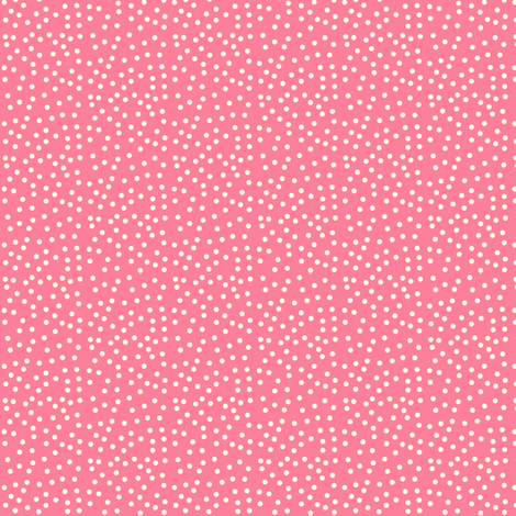 Twinkling Creamy Dots on Rosy Pink - Extra Small Scale fabric by rhondadesigns on Spoonflower - custom fabric