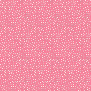 Twinkling Creamy Dots on Rosy Pink - Extra Small Scale