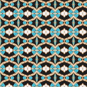 Usiku Siku 11 in Turquoise White Black & Sienna