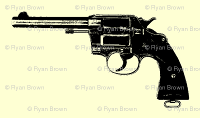 "4"" Colt Revolvers on Yellow"