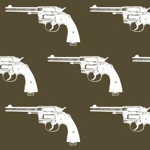 "4"" Colt Revolvers on Dark Olive"