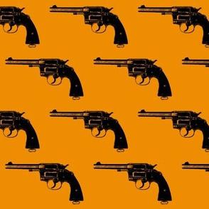 "3"" Colt Revolvers on Orange"