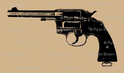 "2"" Colt Revolvers on Tan"