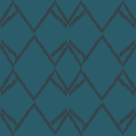 ikat boho_teal fabric by anneke_doorenbosch on Spoonflower - custom fabric