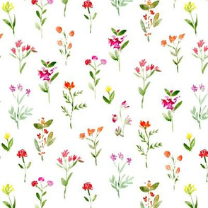 Sweet meadow watercolor floral pattern