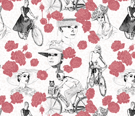 Audrey white fabric by kirpa on Spoonflower - custom fabric