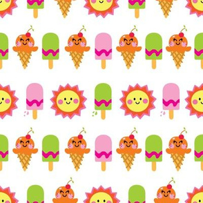 aloha sun and ice cream lime orange pink