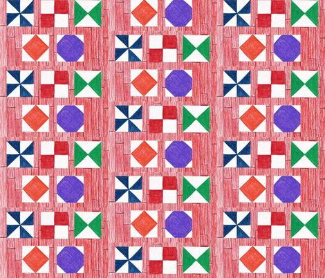 Barn Quilts fabric by kate's_kwilt_studio on Spoonflower - custom fabric
