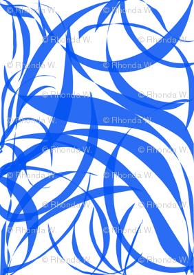 Blue Filigree on White