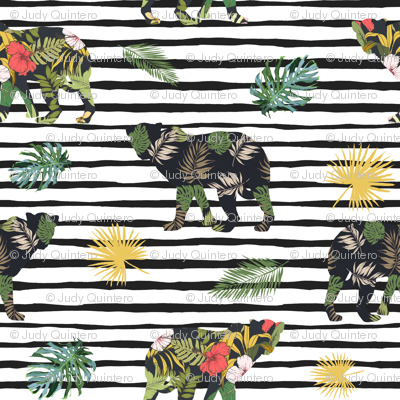 "4"" Tropical Safari Mix & Match - Black Stripes"