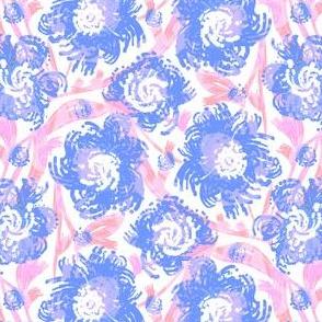 TILE-limolida-spring-flowers-blue-pink-floral-blooms-garden-illustration