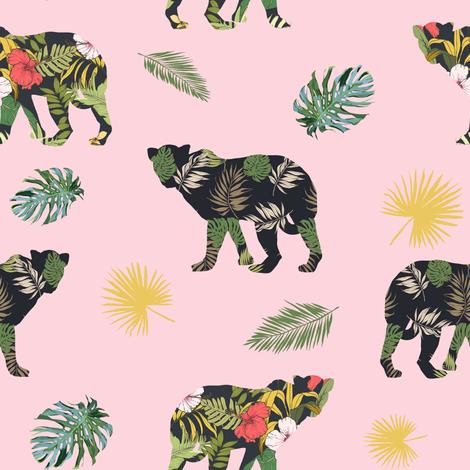 "8"" Tropical Safari Mix & Match - Pink fabric by shopcabin on Spoonflower - custom fabric"