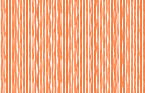 Vertical Tangerine Watercolor Stripes by Friztin fabric by friztin on Spoonflower - custom fabric
