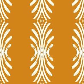 Plume - white on gold