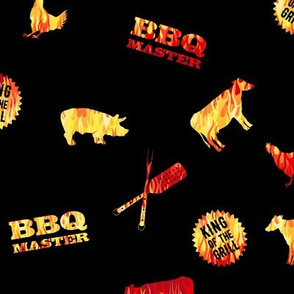BBQ Master CutOut Flames Black