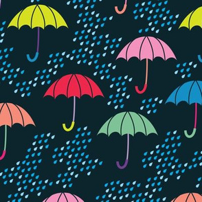 aloha umbrellas on navy