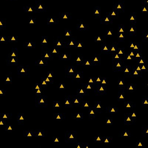 Scatter Triangles Black Gold