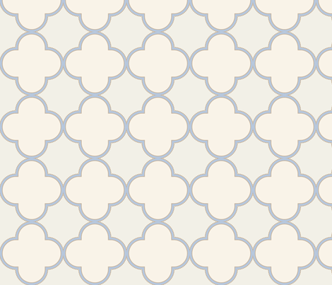 creamy-quatrefoil fabric by phein on Spoonflower - custom fabric