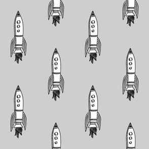 rockets fabric outer space quilt coordinates grey