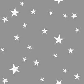 stars outer space quilt coordinates grey