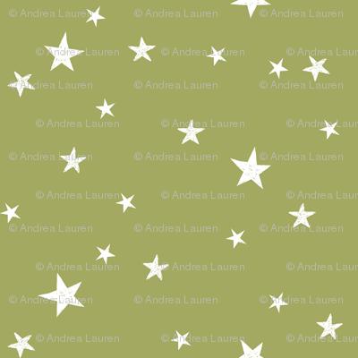 stars outer space quilt coordinates medium green