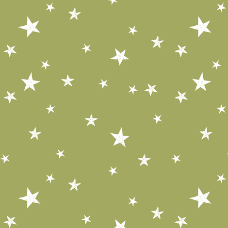 stars outer space quilt coordinates medium green fabric by andrea_lauren on Spoonflower - custom fabric