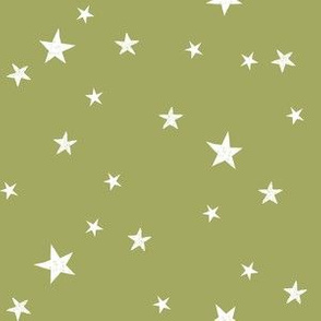 stars outer space quilt coordinates medium green