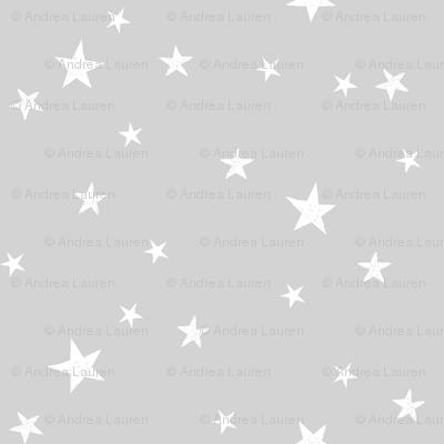 stars outer space quilt coordinates medium grey