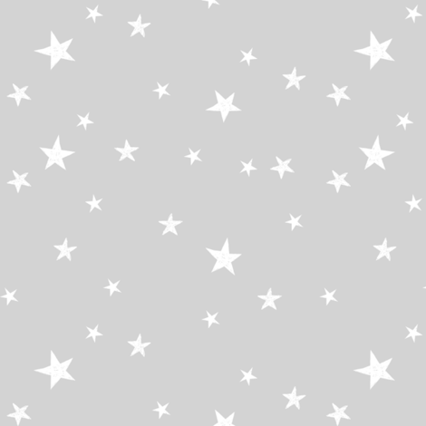 stars outer space quilt coordinates medium grey fabric by andrea_lauren on Spoonflower - custom fabric