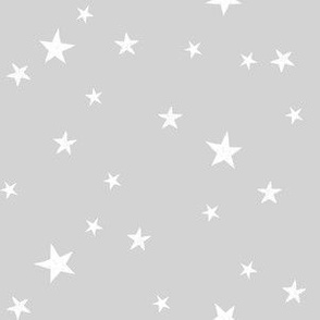 stars outer space quilt coordinates medium grey