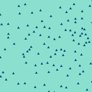 Scatter Triangles Mint Blue