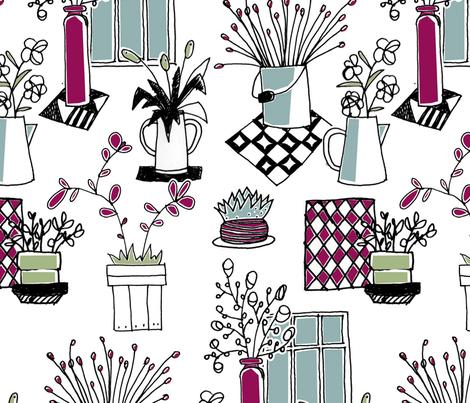Winter garden fabric by lisahilda on Spoonflower - custom fabric