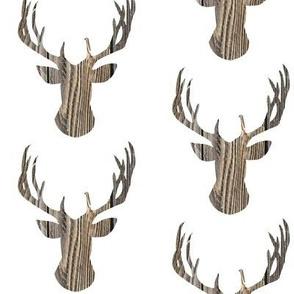 Deer head brown wood fence