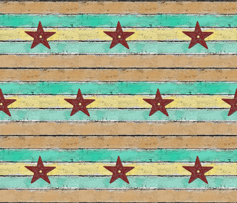 shiplap and barn stars fabric by bdarby on Spoonflower - custom fabric