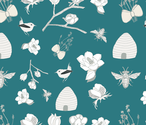 Southern Farmhouse fabric by barbara_carol_designs on Spoonflower - custom fabric