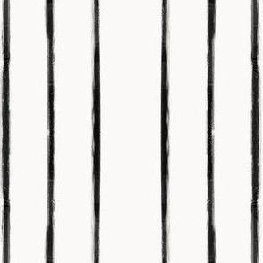 Skinny Strokes Gapped Vertical Black on Off White