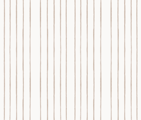 Skinny Strokes Gapped Vertical Nude on Off White fabric by form_creative on Spoonflower - custom fabric