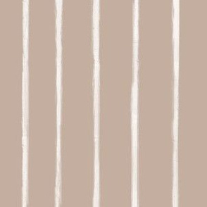 Skinny Strokes Gapped Vertical Off White on Nude