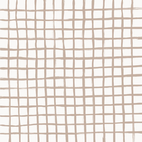 Strokes Grid - Nude on Off White