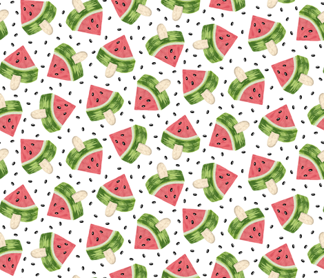 Watermelon Popsicle fabric by mia_valdez on Spoonflower - custom fabric