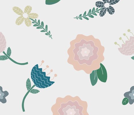 Whimsy Girl Floral fabric by homemadebycarmona on Spoonflower - custom fabric