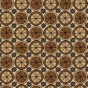 Spokes and Gears - Brown
