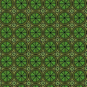 Spokes and Gears - Green