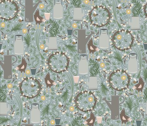 Farmhouse Fresh fabric by oliveandruby on Spoonflower - custom fabric