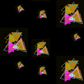 Pink and brown Triangle Tangle