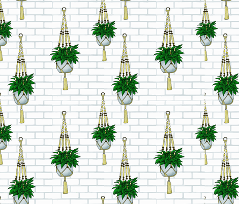 Hanging Plants fabric by veata_atticus_store on Spoonflower - custom fabric