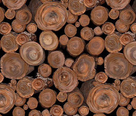 LOGS FOR THE FIRE PLACE fabric by house_of_heasman on Spoonflower - custom fabric